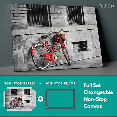 Red Bicycle Non-Stop Canvas Printings