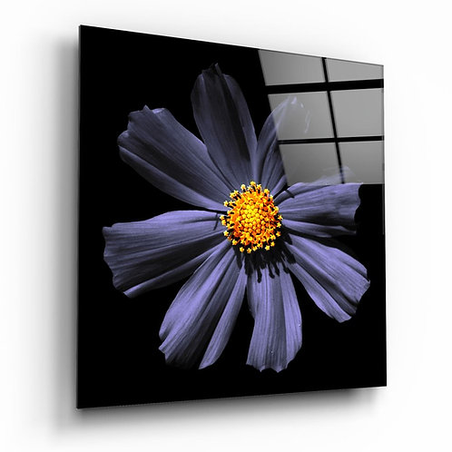 Purple Flower UV Printed Glass Printing