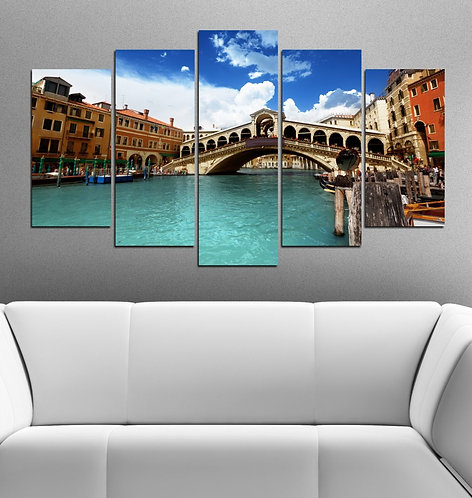 Venice 5 Pieces MDF Painting
