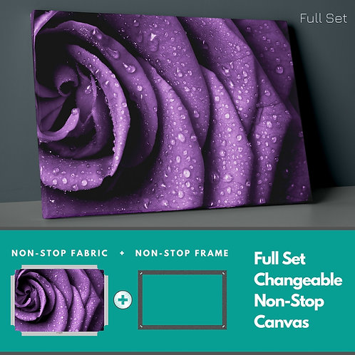 Purple Rose Petals Non-Stop Canvas Printings