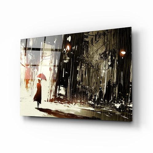 Rainy City Glass Printing