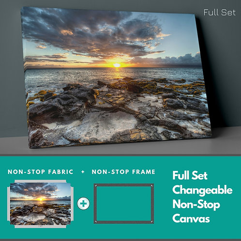 Rocks And Sunset Non-Stop Canvas Printings