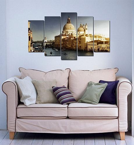 Venice Chapel (2) 5 Pieces MDF Painting