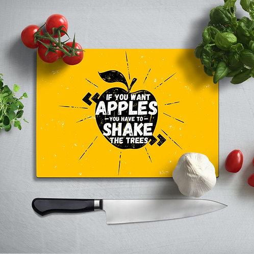 Apple Uv Printed Glass Chopping Board 35x25 cm