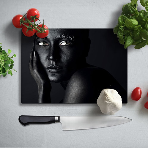 Women's Portrait UV Printed Glass Chopping Board 35x25cm