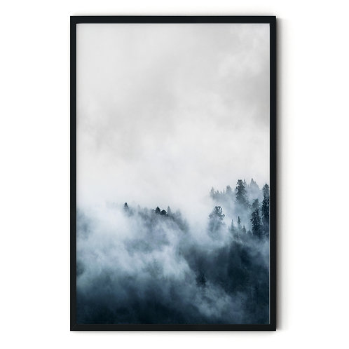 Foggy Forest Framed Wall Art