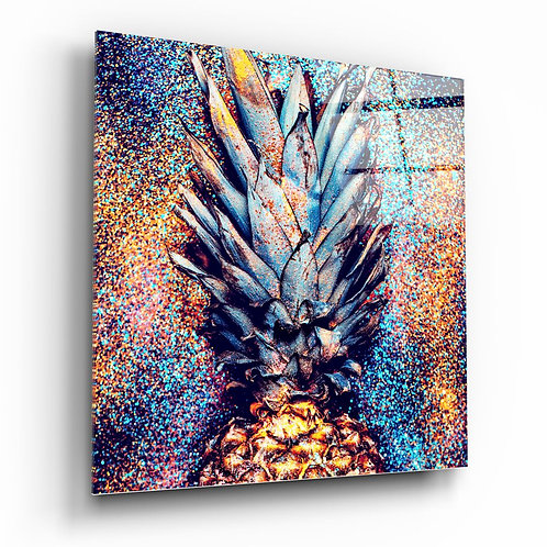 Pineapple UV Printed Glass Painting