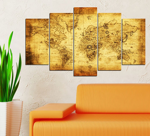 Ancient World 5 Pieces MDF Painting
