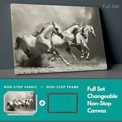 Running Horses Non-Stop Canvas Printings