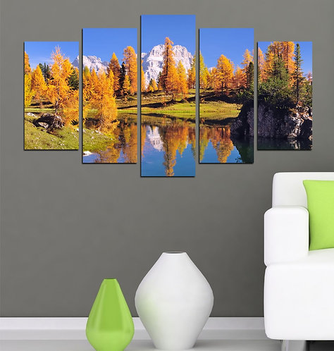 Nature Spot (5) 5 Pieces MDF Painting