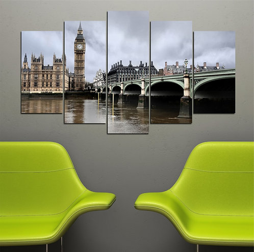 London Clock Tower 5 Pieces MDF Painting