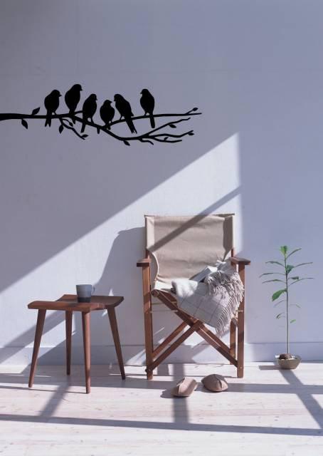 Birds On Branch Wall Sticker