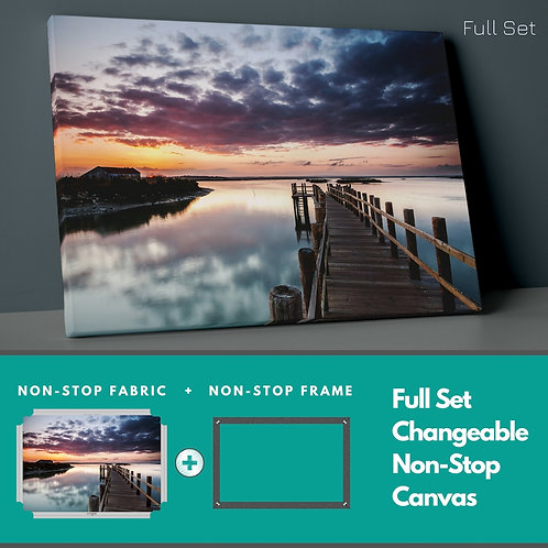 Sea And Sunset Non-Stop Canvas Printings
