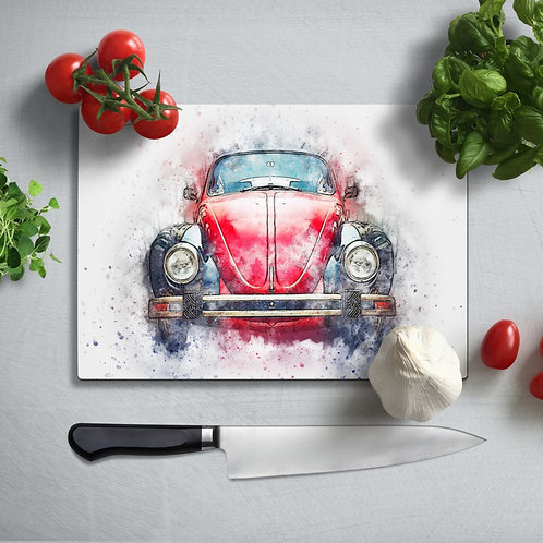Bug  Uv Printed Glass Chopping Board 35x25 cm