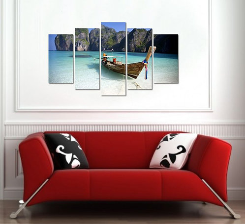 Bahamas 5 Pieces MDF Painting