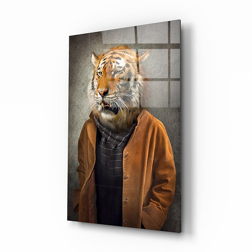 Tiger Head Glass Printing