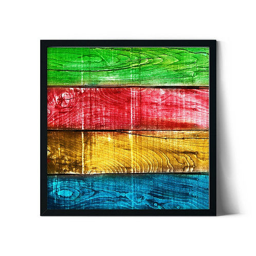 Colorful Wooden Framed Painting