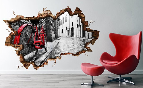 Bicycle 3D Wall Sticker