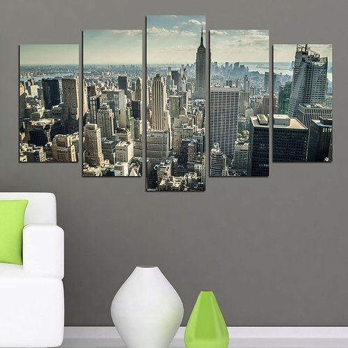 New York (6) 5 Pieces MDF Painting