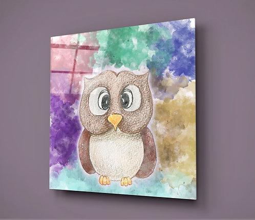 Owl UV Printed Glass Printing