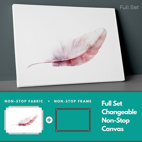 Boho Feather Non-Stop Canvas Printings