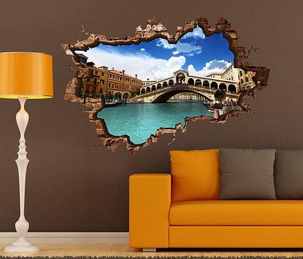 Venice 3D Wall Sticker