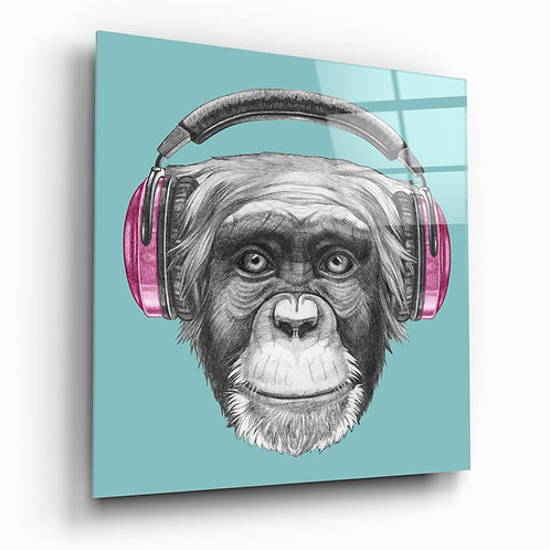 Monkey UV Printed Glass Painting