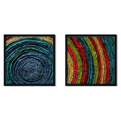 Woven Framed Painting