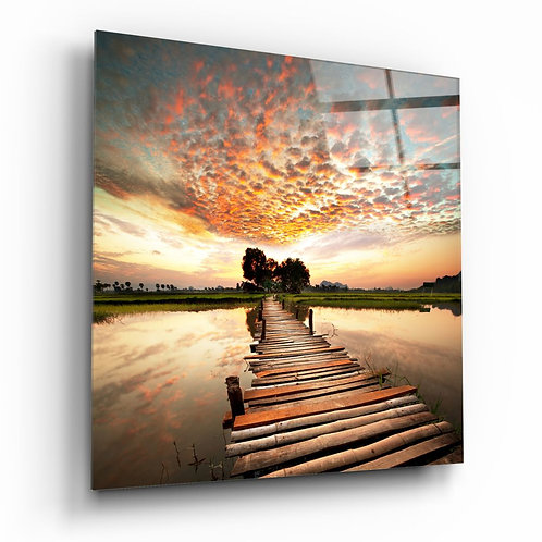 Dock and Landscape UV Printed Glass Printing