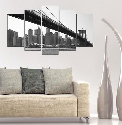 Brooklyn Bridge (4) 5 Pieces MDF Painting