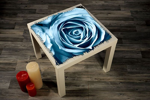 Blue Rose Printed Coffee Tables