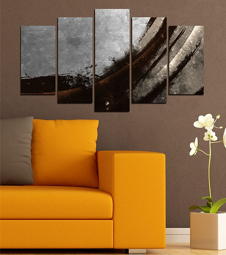Abstract (17) 5 Pieces MDF Painting