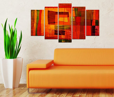 Modern Art 5 Pieces MDF Painting