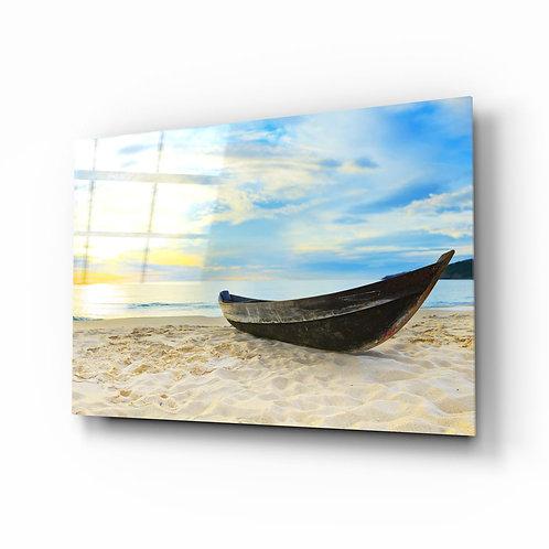 Beach UV Printed Glass Painting