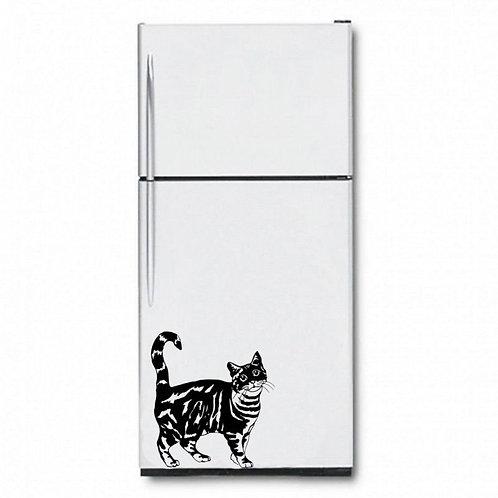 Cat Fridge  Wall Sticker