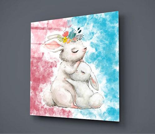 Rabbit UV Printed Glass Printing