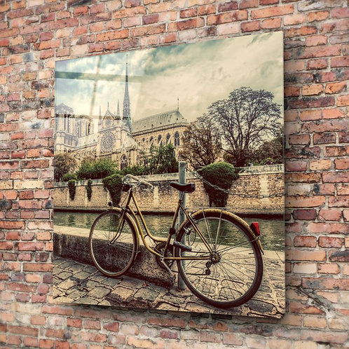 Bicycle UV Printed Glass Painting