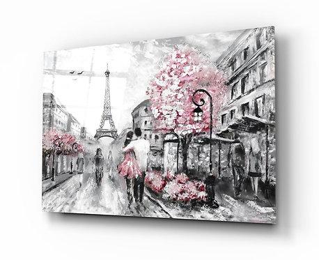 Paris UV Printed Glass Painting