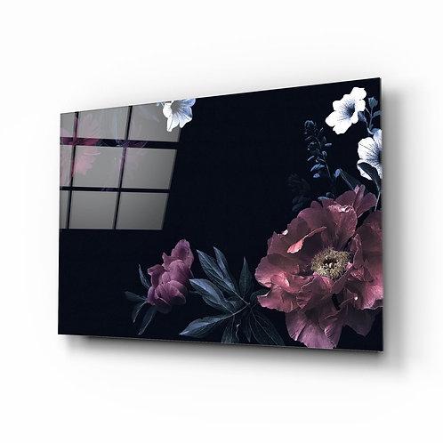 Pastel Flowers UV Printed Glass Printing