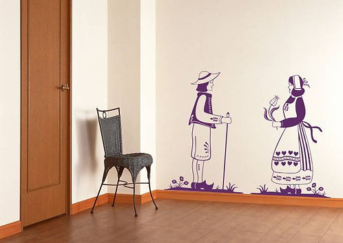 Country Of Tulips Wall Sticker