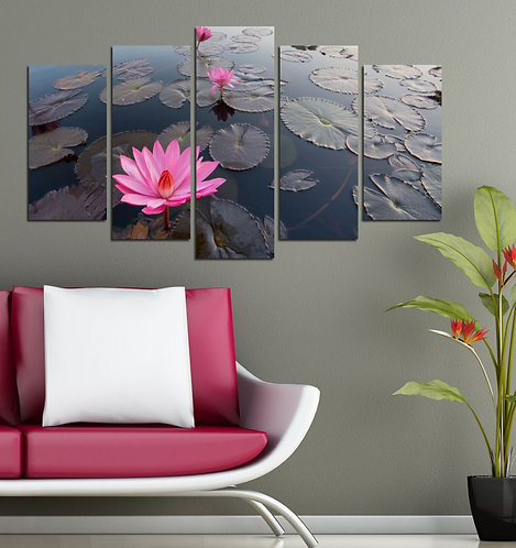 Flowers (8) 5 Pieces MDF Painting