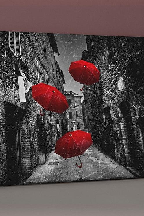 Red Umbrella Canvas Printings