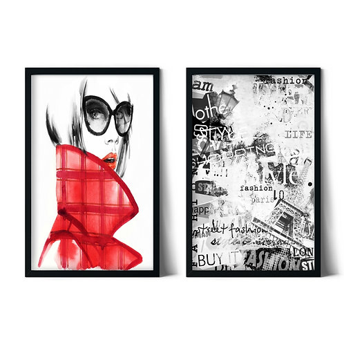 Woman and Style Framed Combination Table