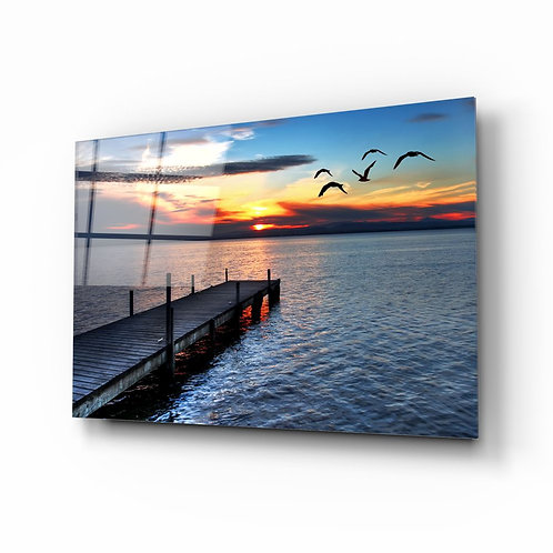 Dock UV Printed Glass Painting