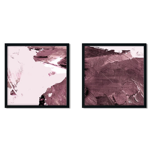 Abstract Pink Framed Painting