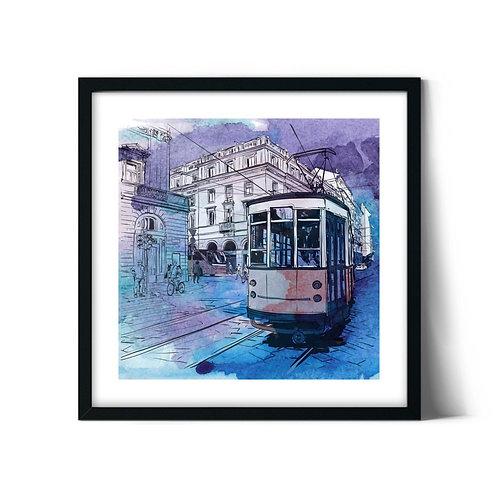 Tram Framed Painting