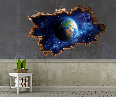 Space 3D Wall Sticker