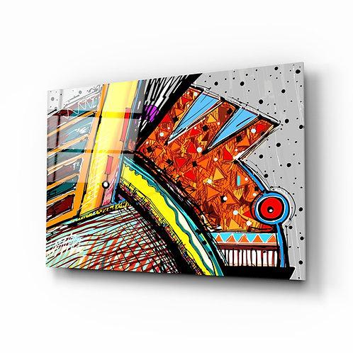 Abstract Chameleon Glass Printing