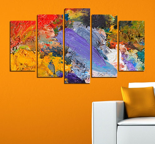 Abstract (30) 5 Pieces MDF Painting