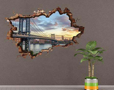 New York 3D Wall Sticker